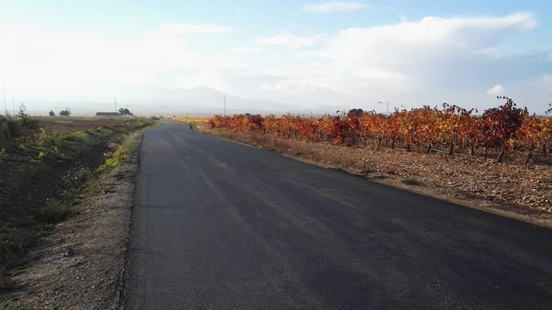 Asfaltado camino perimetral Polígono Industrial Entreviñas