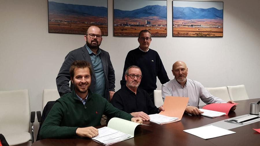 Convenios colaboración EFB, CD Cariñena y Atlético Cariñena