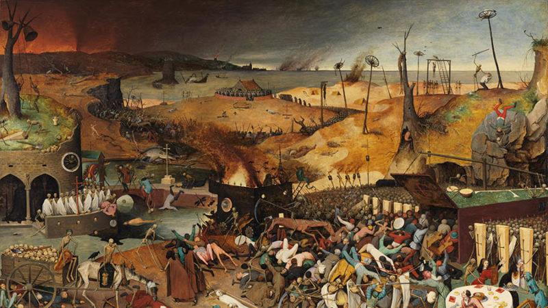 """""""El triunfo de la muerte"""" (1562) de Pieter Brueghel """"El Viejo"""". Óleo sobre tabla. Museo del Prado."""